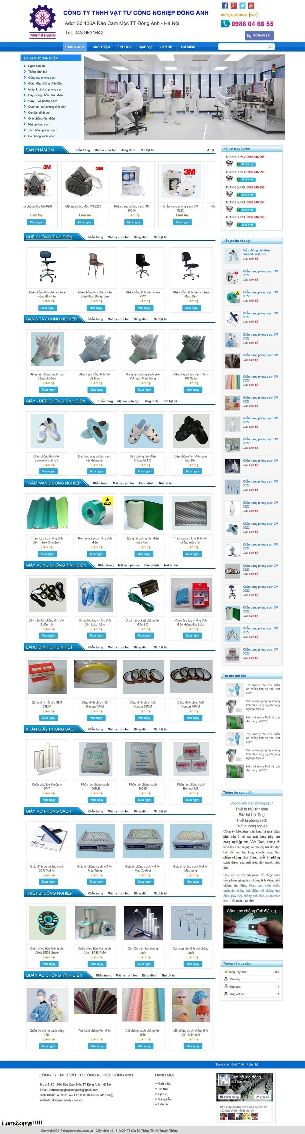 Thiết kế web đồ bảo hộ lao động, quần áo bảo hộ Dong Anh