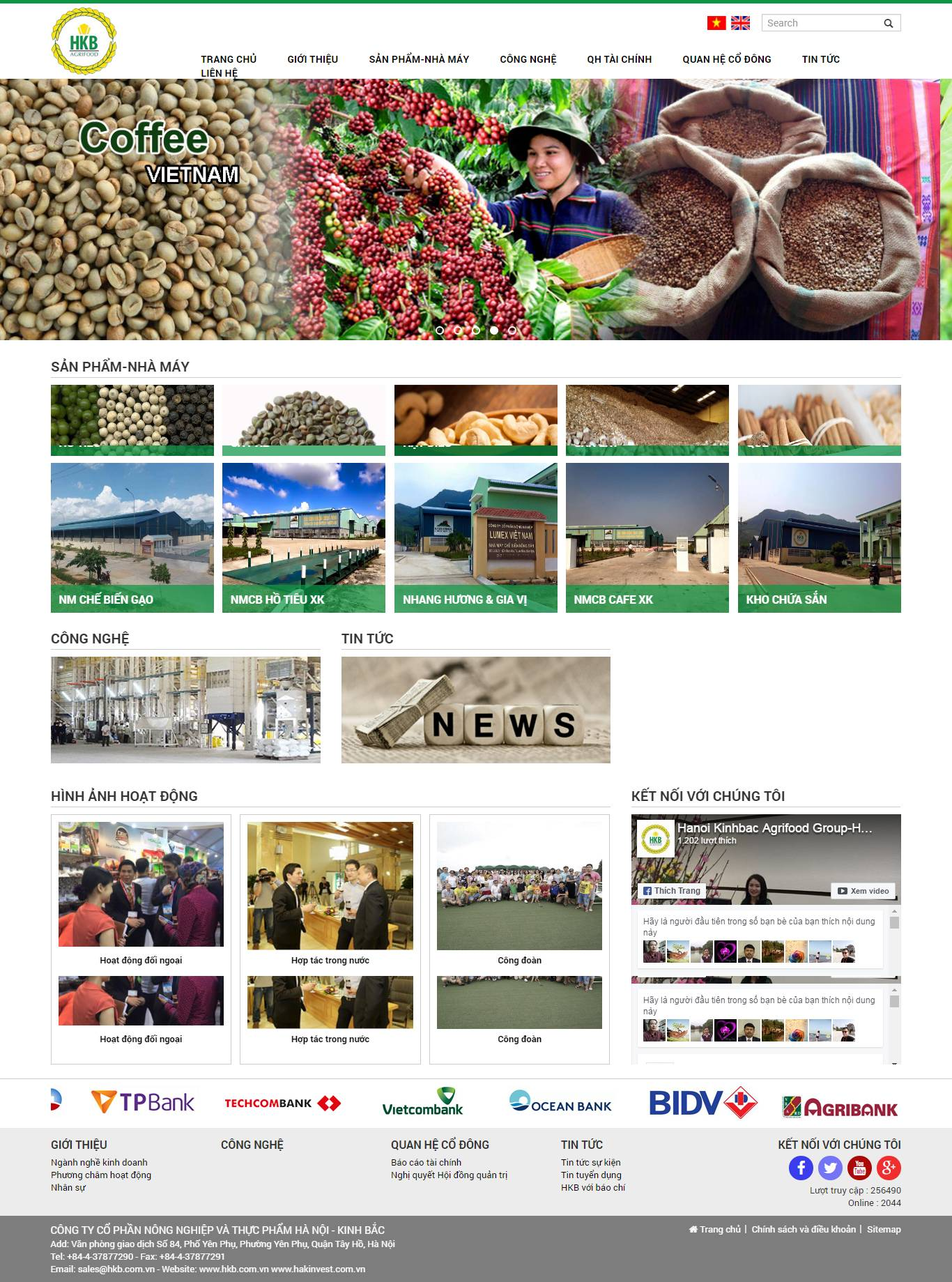 Thiết kế website công ty HKB Agrifood
