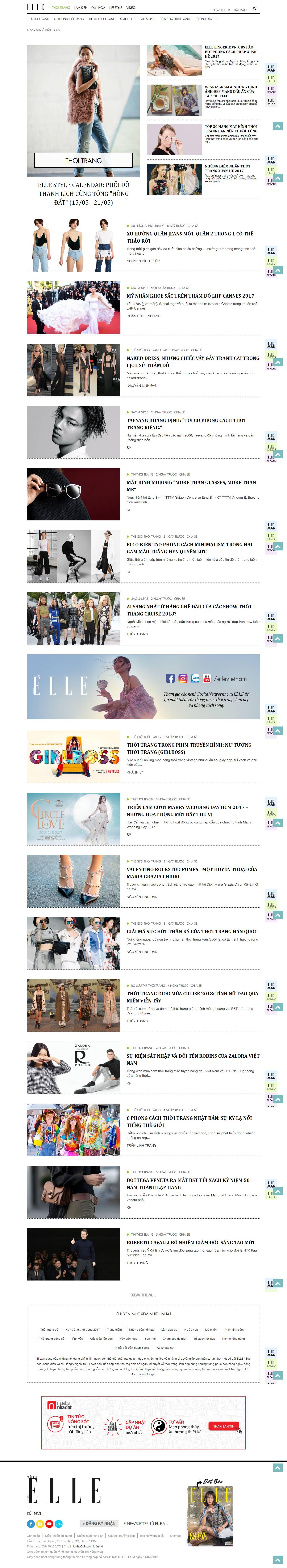 Thiết kế website thời trang, quần áo Elle đẹp SEO nhanh hiệu quả
