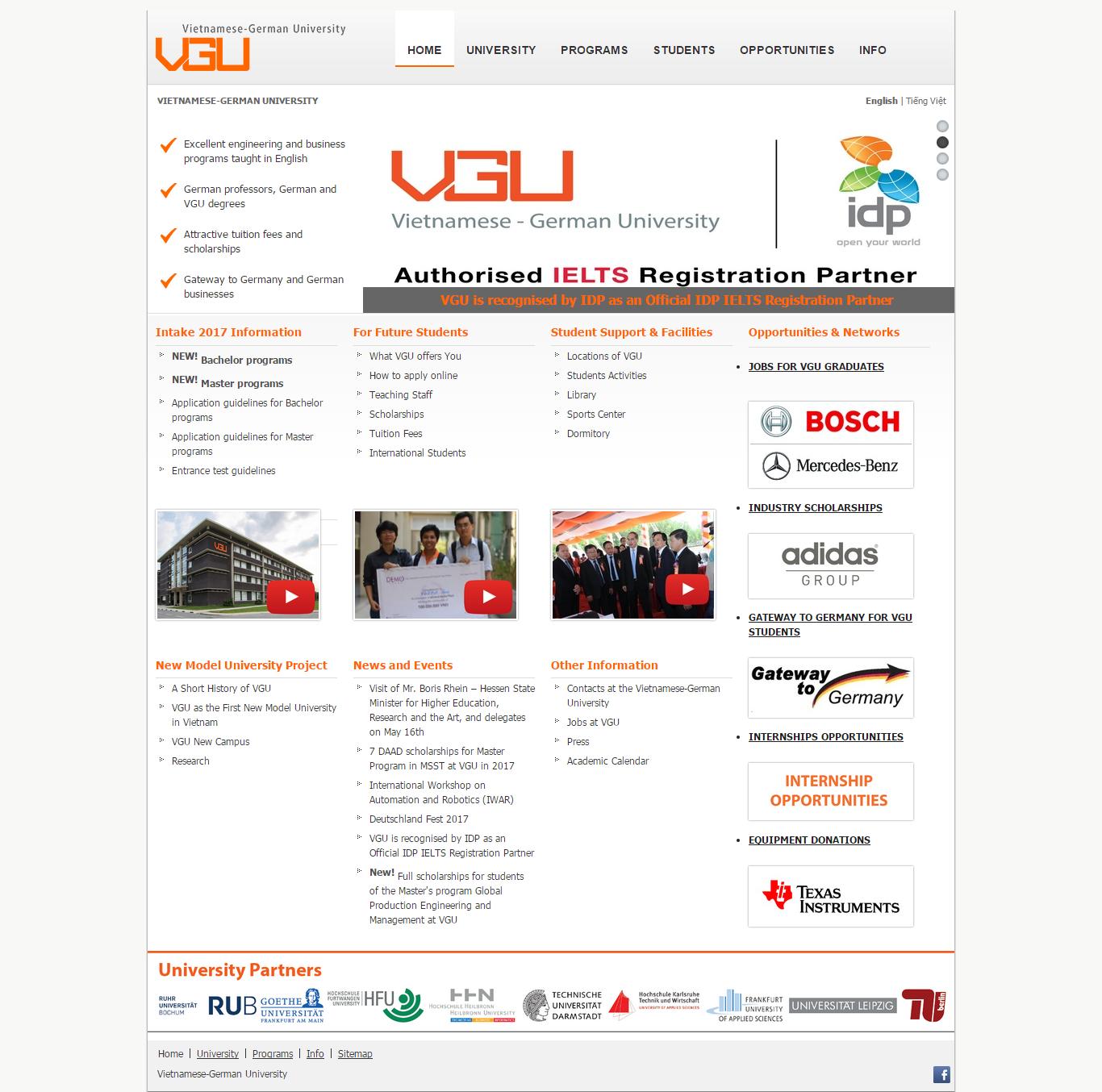 Thiết kế website Vgu đẹp, chuyên nghiệp chuẩn SEO