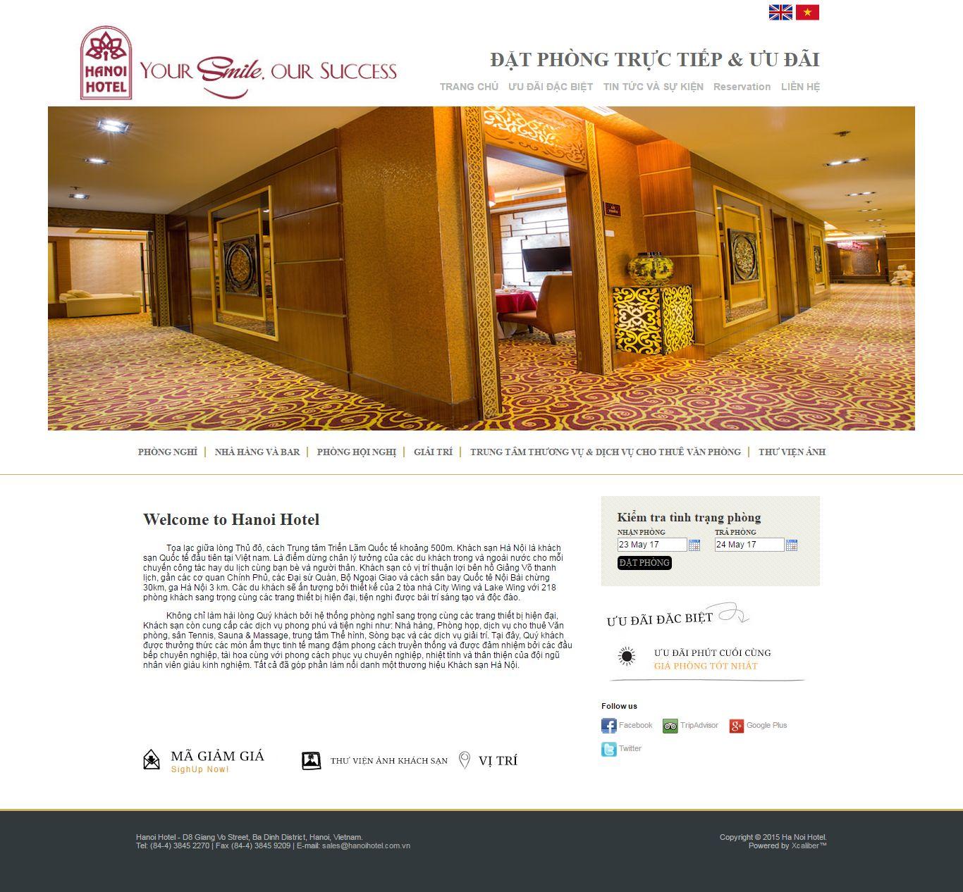 Thiết kế website Hà Nội hotel đẹp, chuyên nghiệp chuẩn SEO