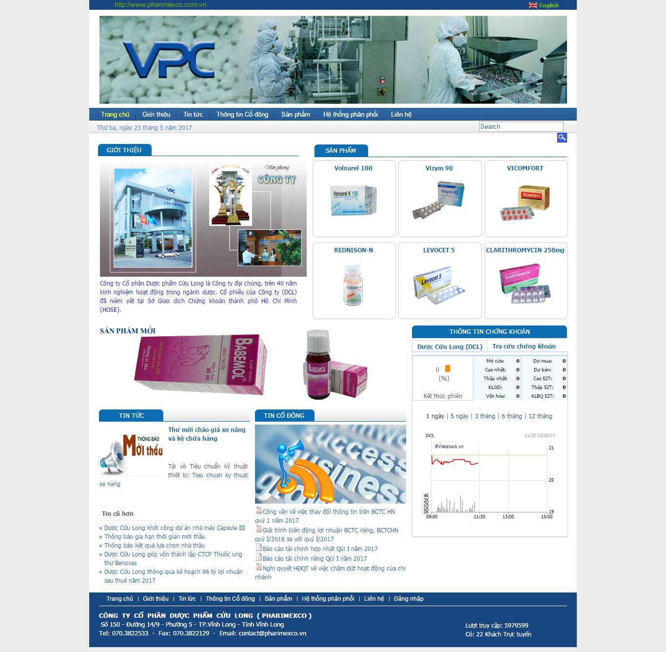 Thiết kế website dược phẩm Cửu Long đẹp, chuyên nghiệp chuẩn SEO
