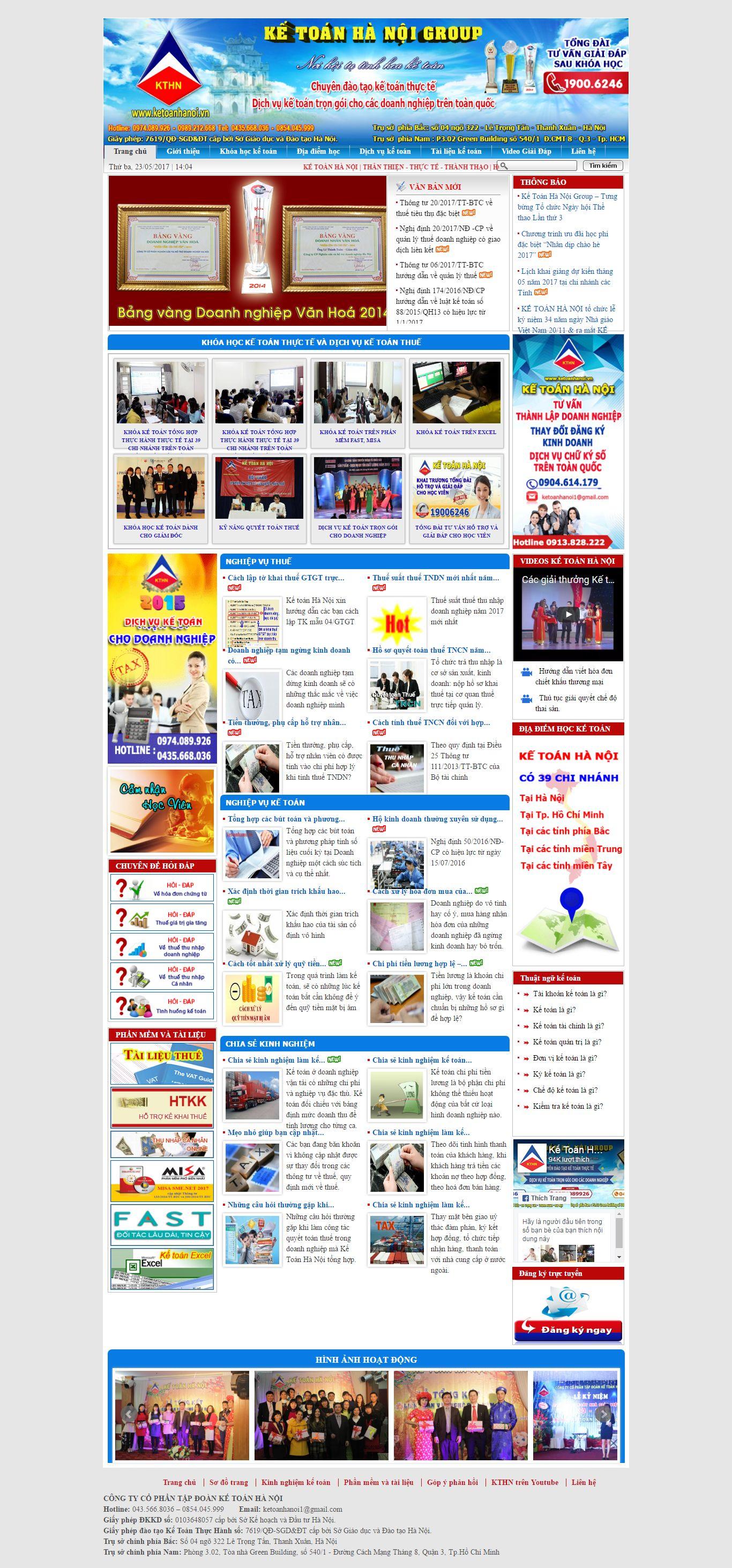 Thiết kế website kế toán Hà Nội đẹp, chuyên nghiệp chuẩn SEO