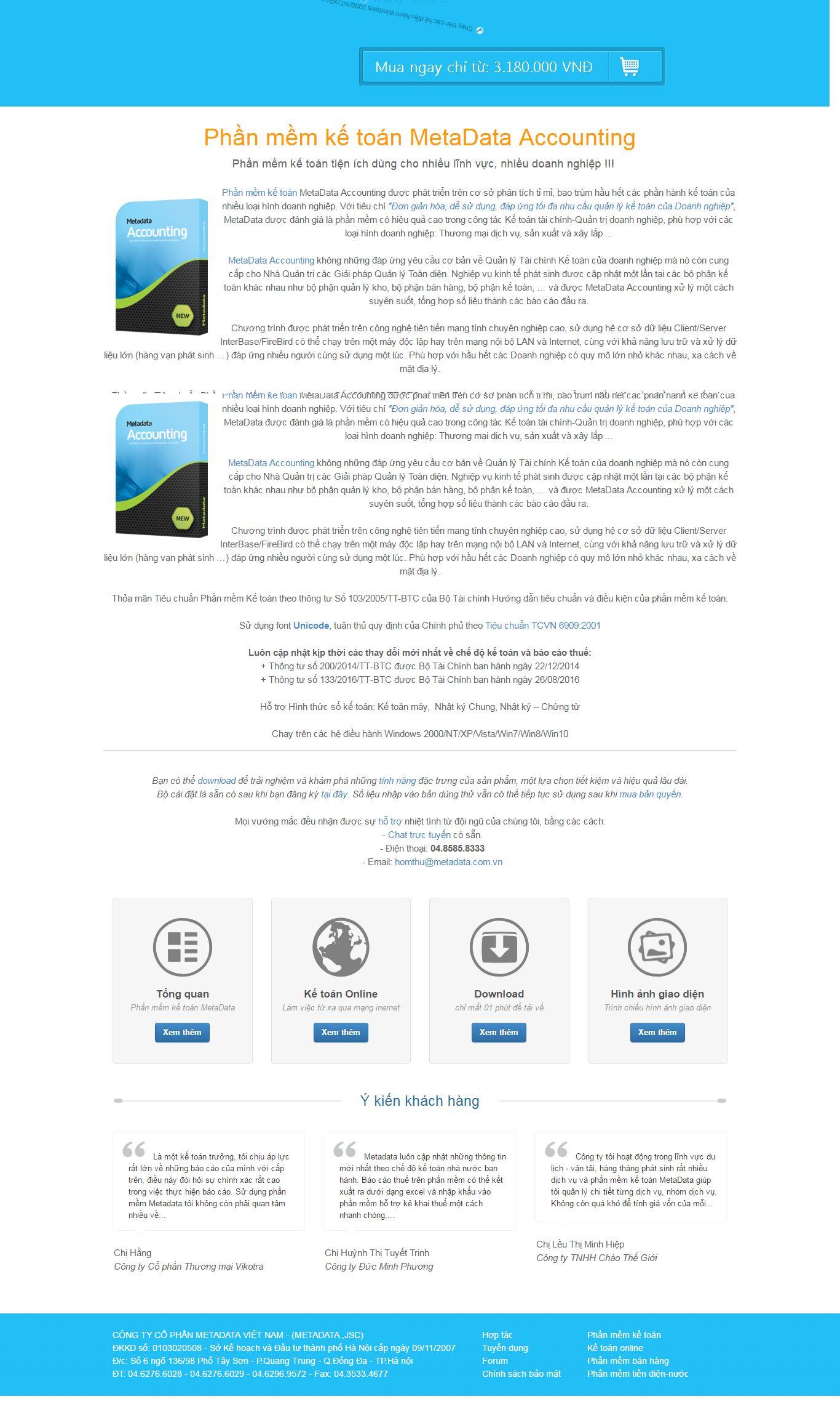 Thiết kế website phần mềm kế toán Metadata đẹp SEO nhanh hiệu quả