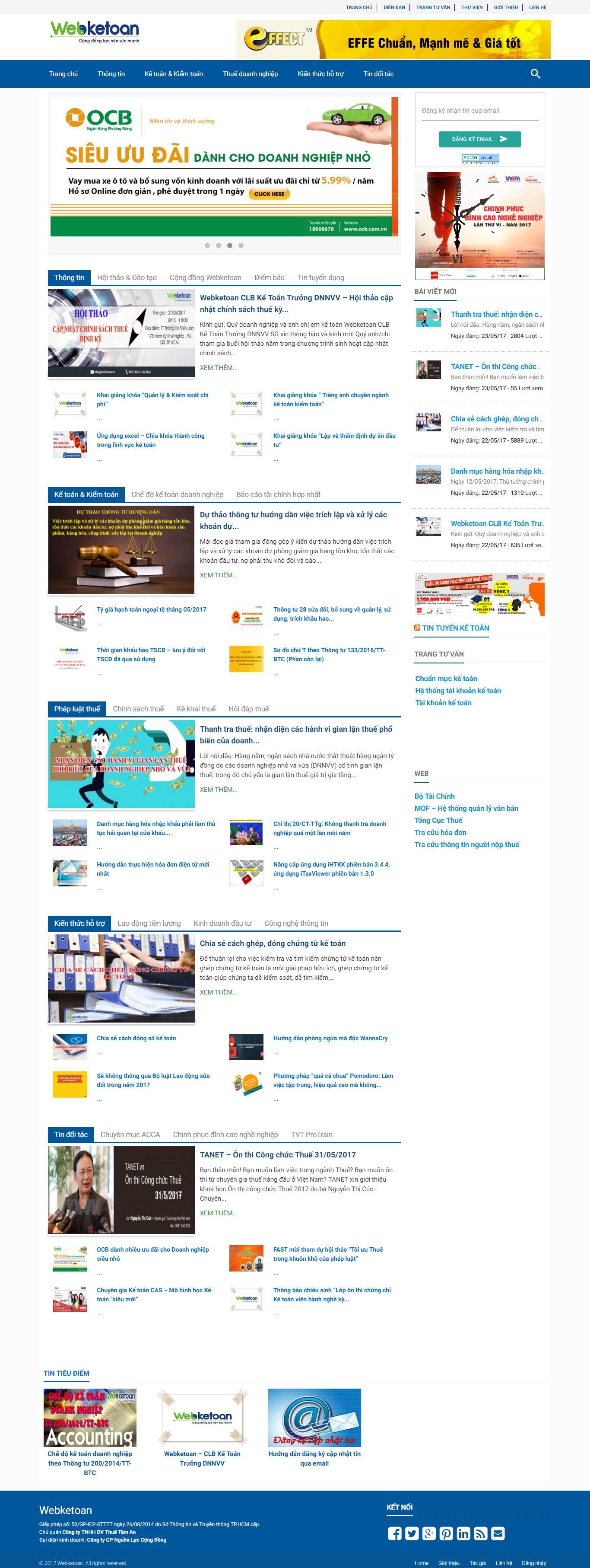 Thiết kế website kế toán- thuế đẹp, chuyên nghiệp chuẩn SEO