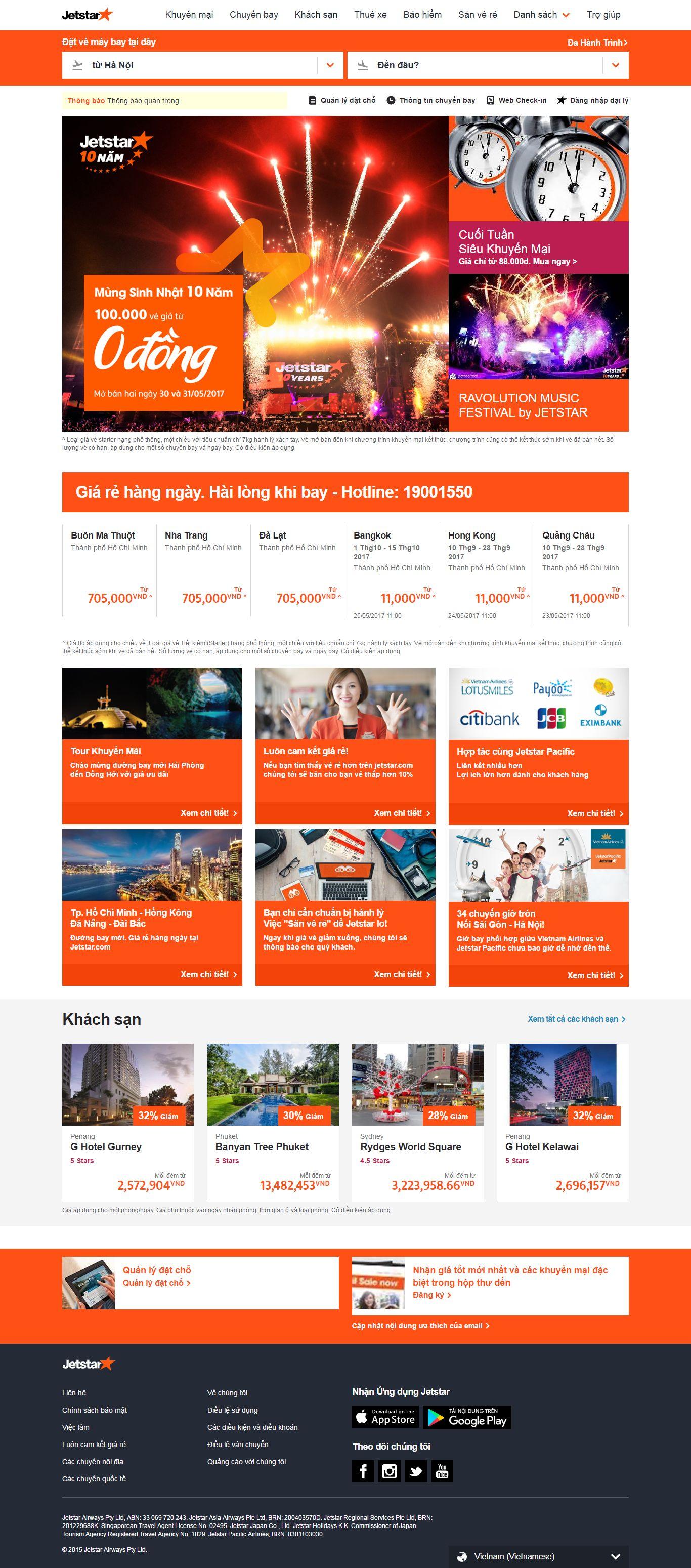 Thiết kế website vé máy bay jetstar đẹp, chuyên nghiệp chuẩn SEO