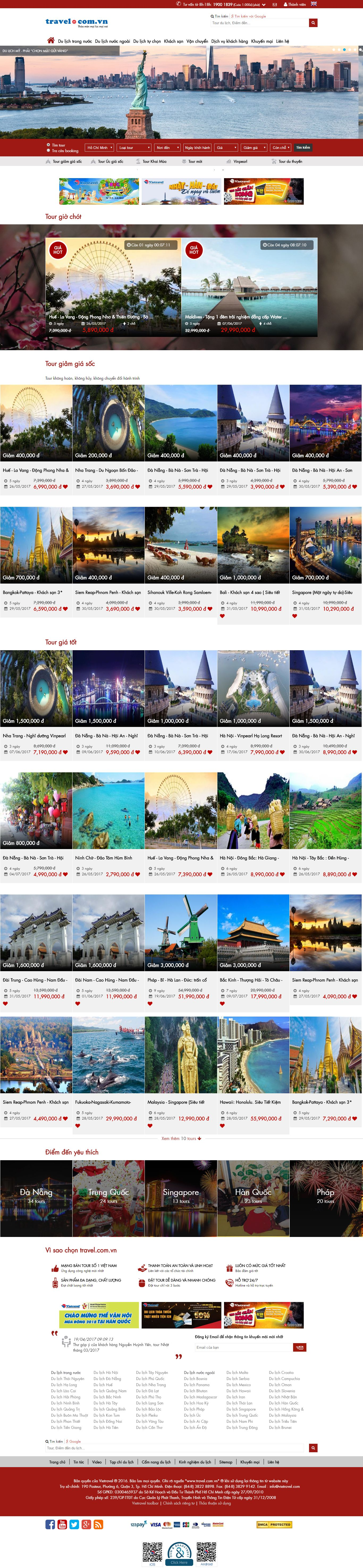 Thiết kế website mạng bán tour trực tuyến đẹp SEO nhanh hiệu quả