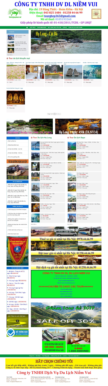Thiết kế website du lịch ghép đoàn đẹp, chuyên nghiệp chuẩn SEO
