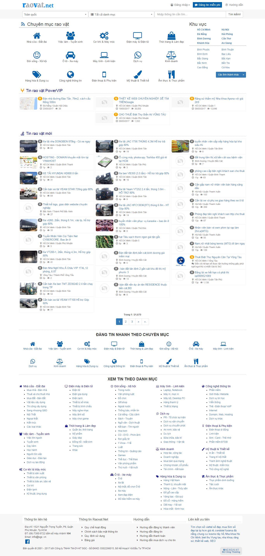 Thiết kế website mạng rao vặt, mua bán  đẹp, chuyên nghiệp chuẩn SEO