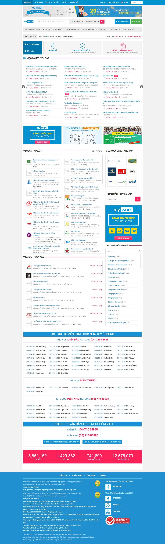 Thiết kế website tìm việc làm đẹp, chuyên nghiệp chuẩn SEO