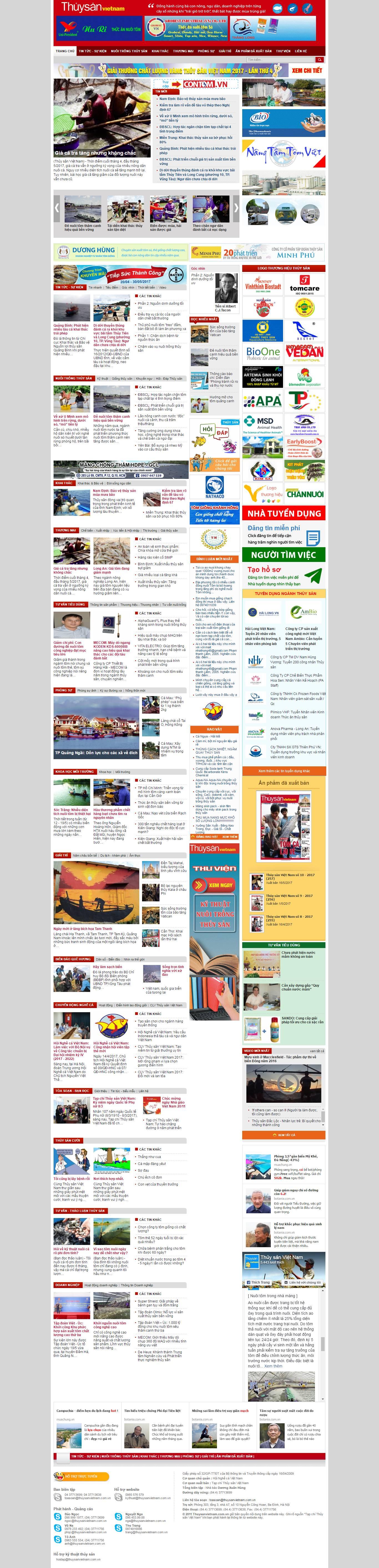 Thiết kế website thủy sản Việt Nam đẹp, chuyên nghiệp chuẩn SEO