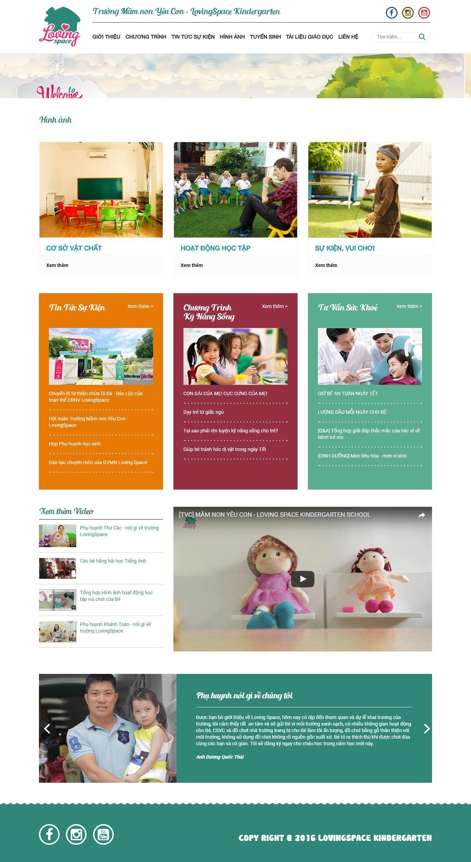 Thiết kế website trường mầm non LovingSpace Kindergarten
