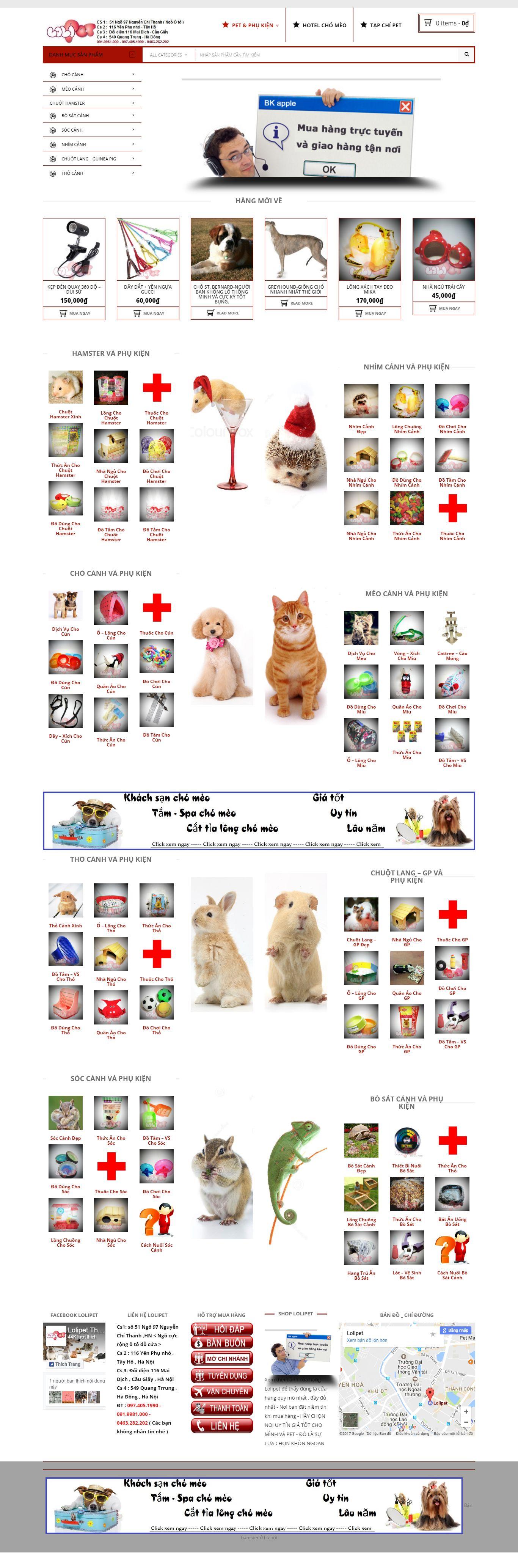 Thiết kế website cửa hàng thú cảnh lolipet đẹp SEO nhanh hiệu quả