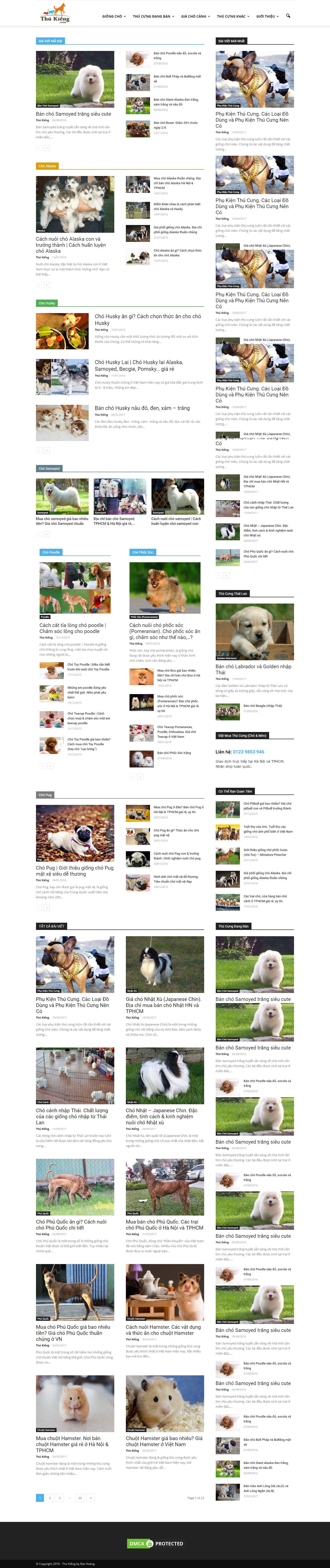 Thiết kế website thú kiểng đẹp, chuyên nghiệp chuẩn SEO