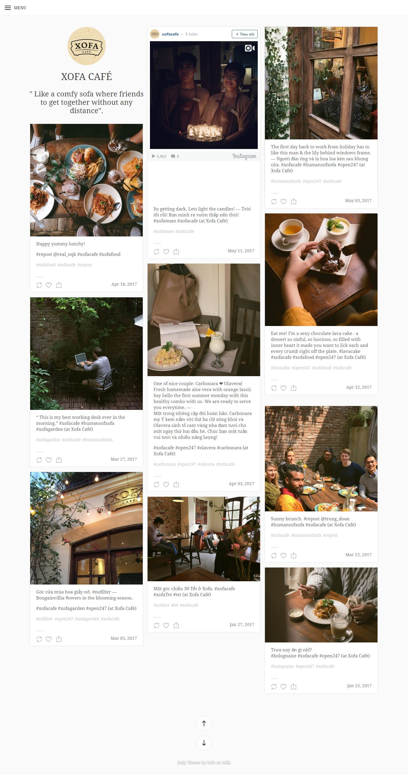Thiết kế website XOFA coffe đẹp, chuyên nghiệp chuẩn SEO