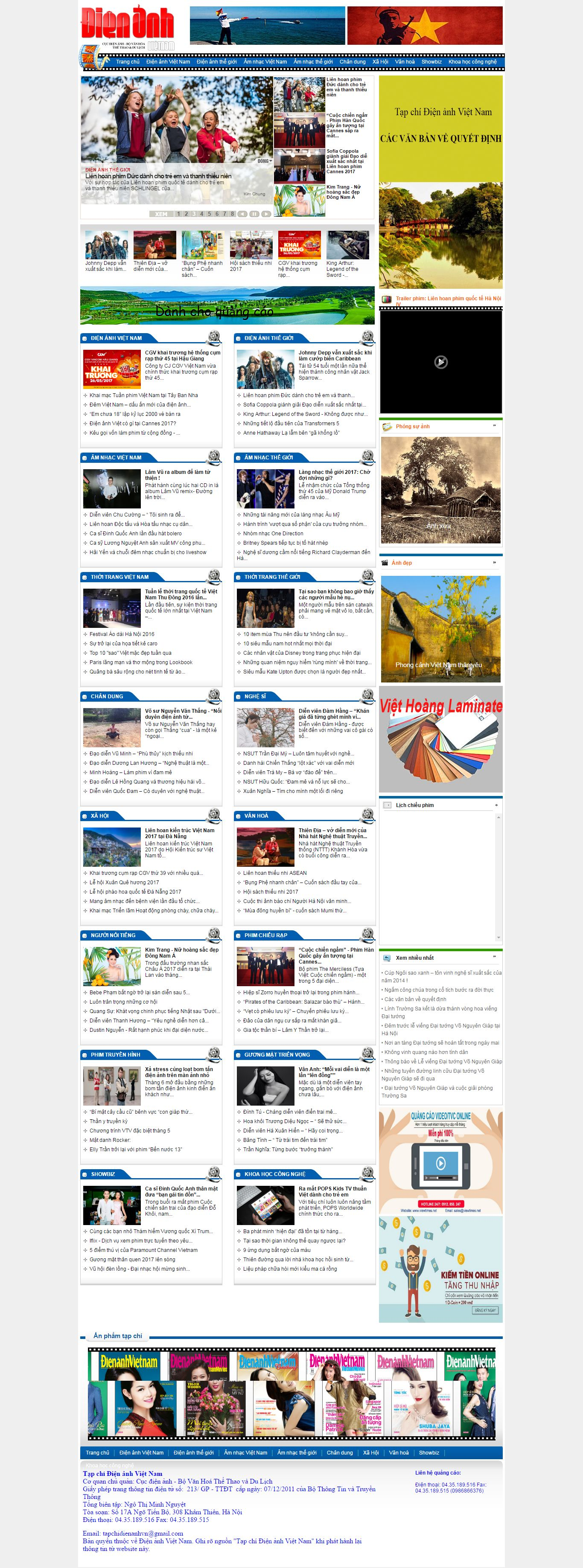 Thiết kế website Điện ảnh Việt Nam đẹp, chuyên nghiệp chuẩn SEO