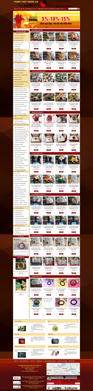 Thiết kế website Phong thủy hoàng gia đẹp, chuyên nghiệp chuẩn SEO
