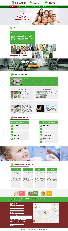 Thiết kế website nha khoa pro đẹp, chuyên nghiệp chuẩn SEO