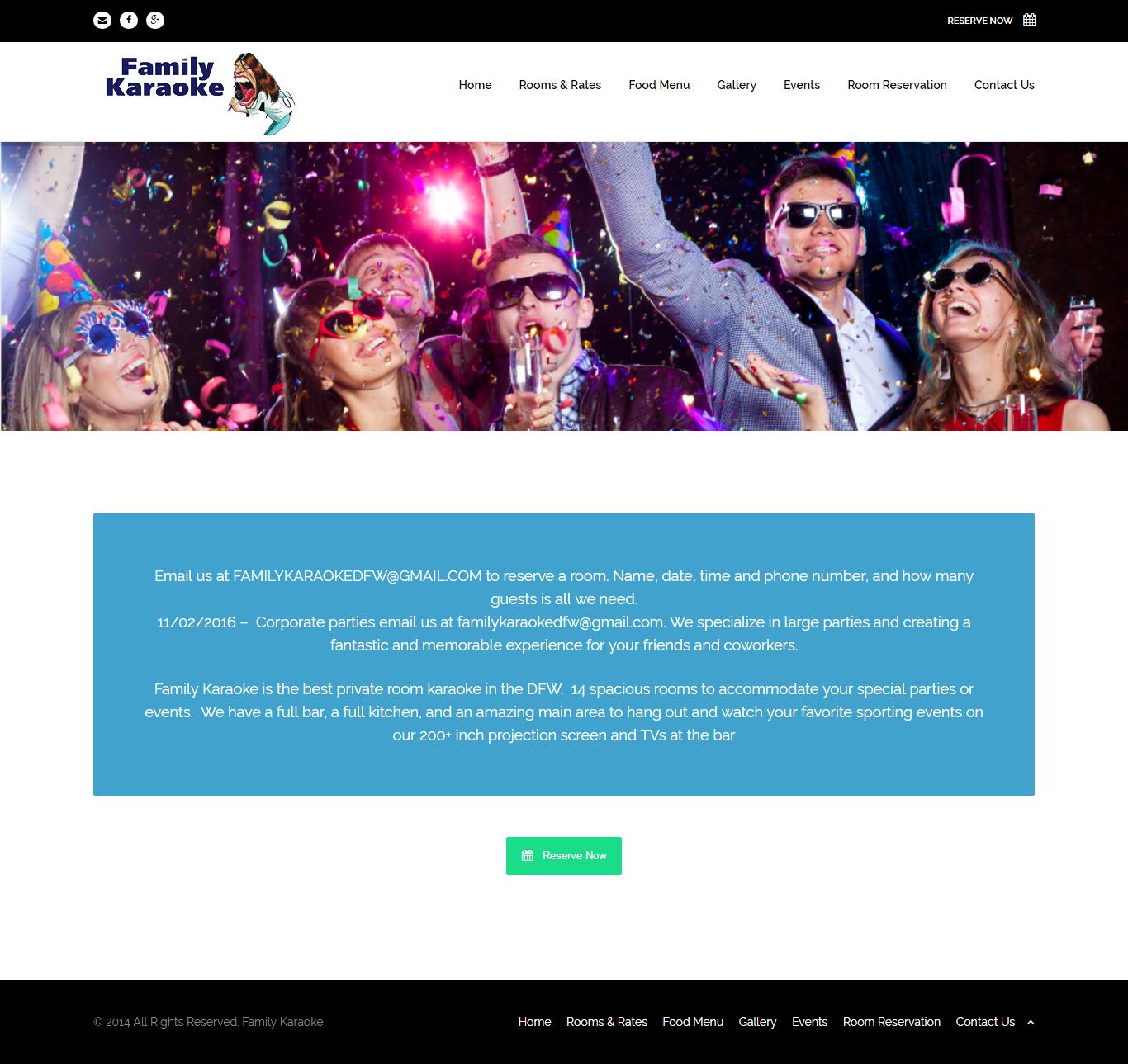 Thiết kế website Family Karaoke đẹp, chuyên nghiệp chuẩn SEO