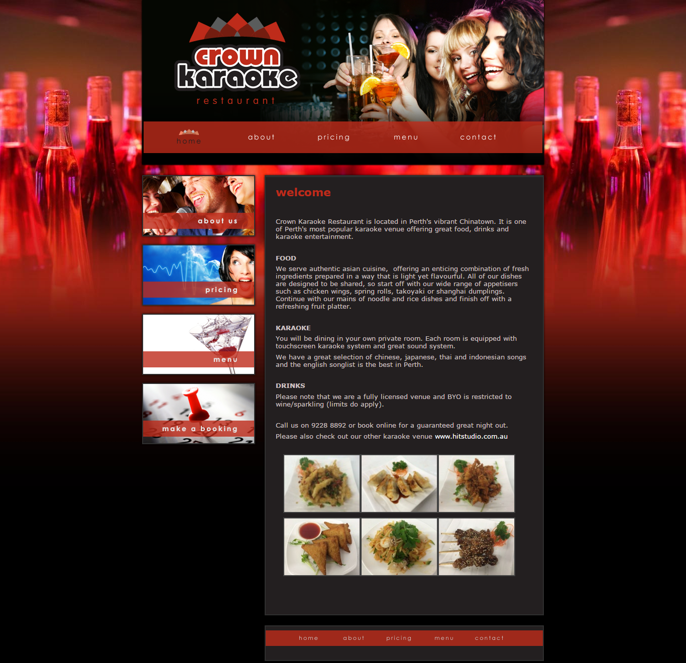 Thiết kế website Crown karaoke đẹp, chuyên nghiệp chuẩn SEO