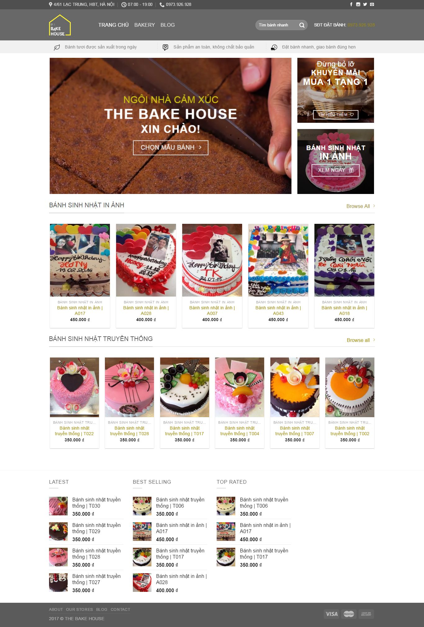 Thiết kế website The Bake House
