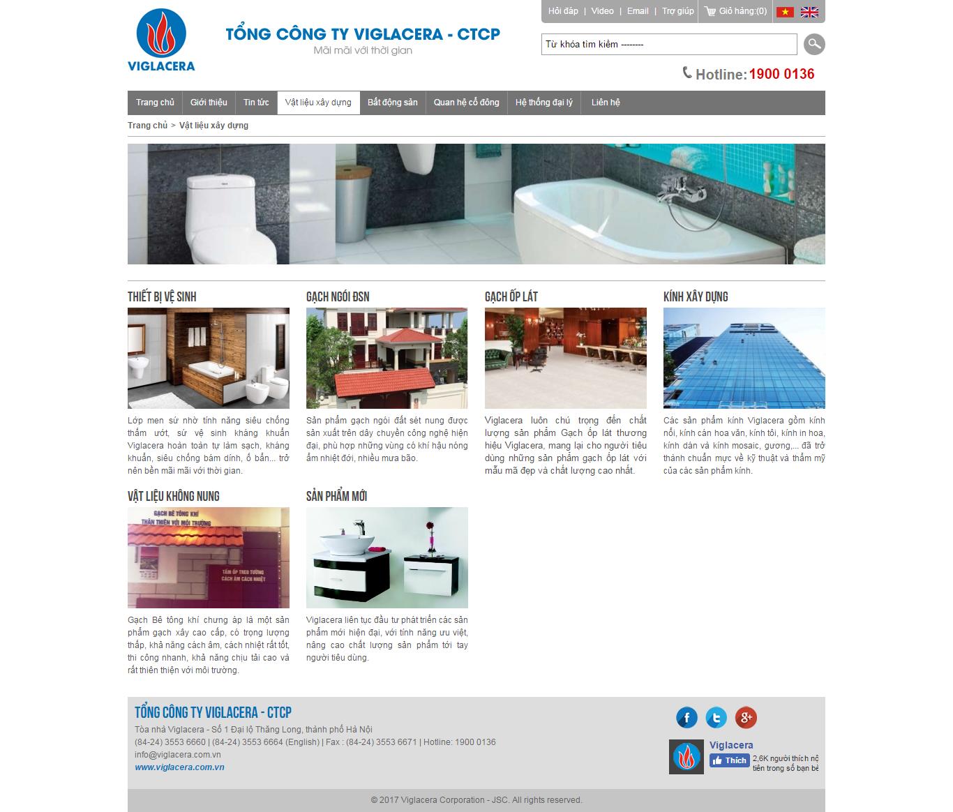 Thiết kế website vật liệu xây dựng, đồ nội thất