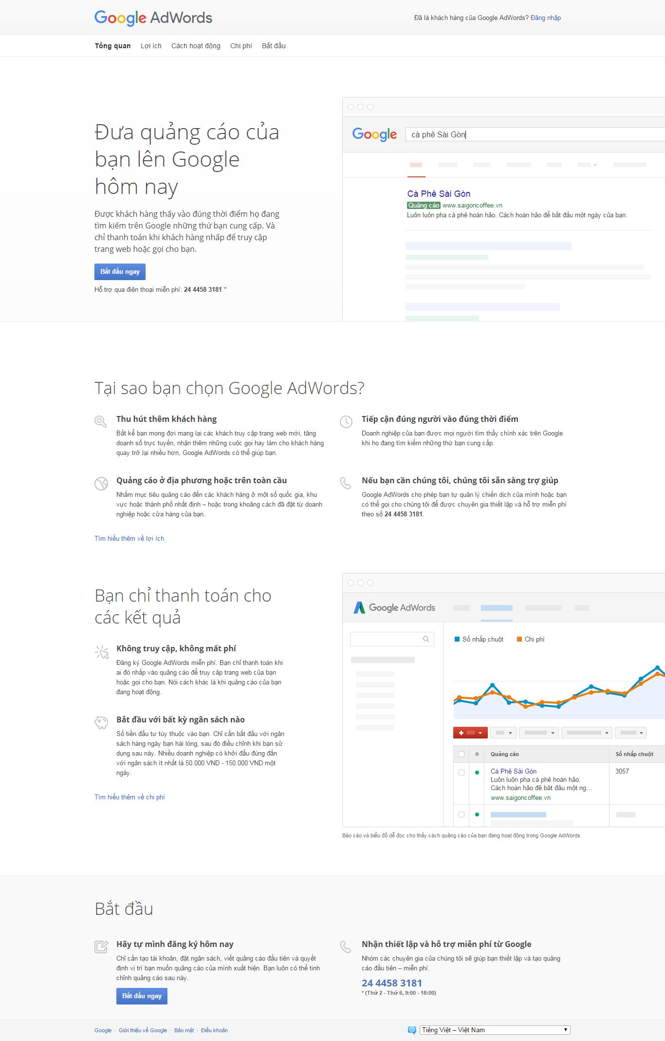 Thiết kế website quảng cáo google adwords đẹp, chuyên nghiệp chuẩn SEO