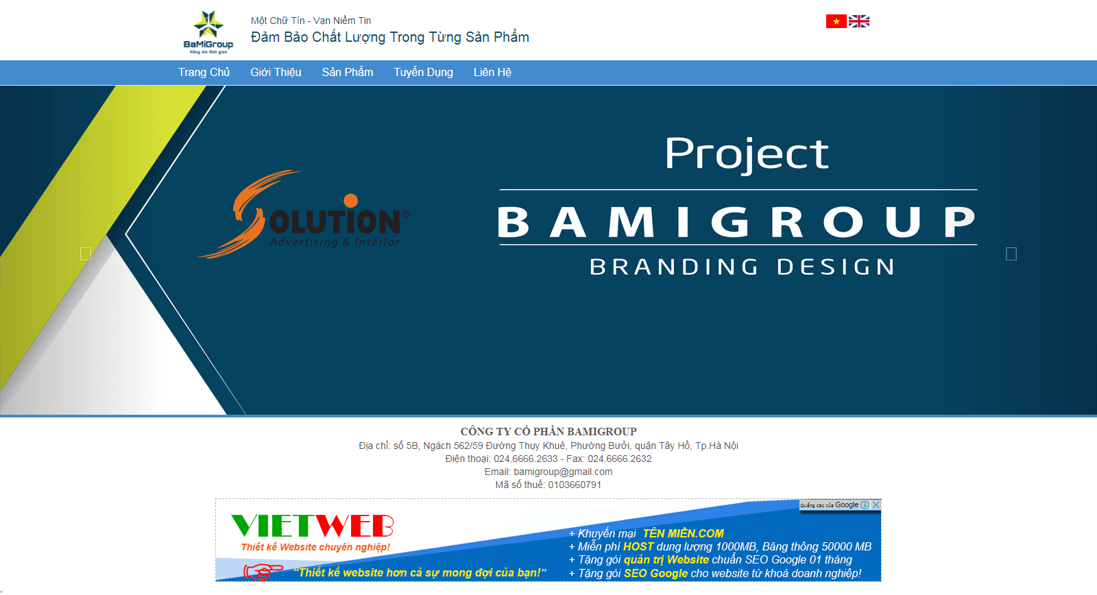 Thiết kế website bamigroup.vn