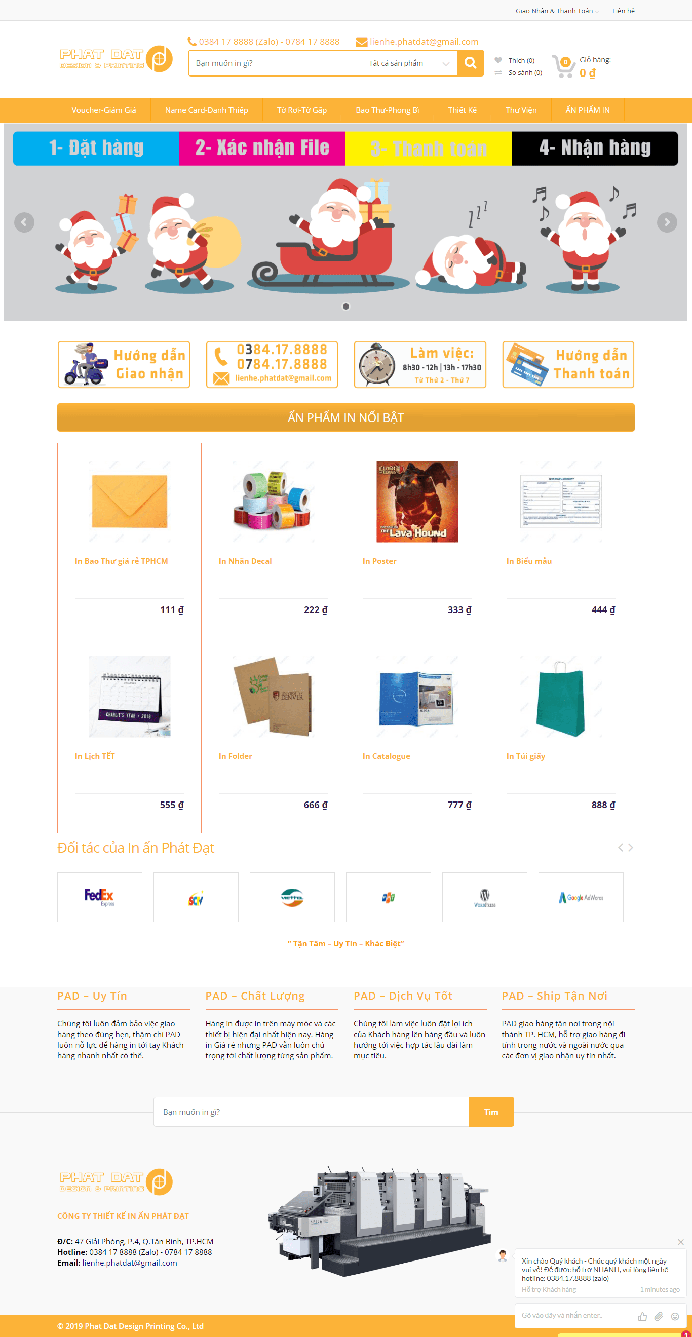 Thiết kế website in ấn - thiết kế - http://inanphatdat.com/