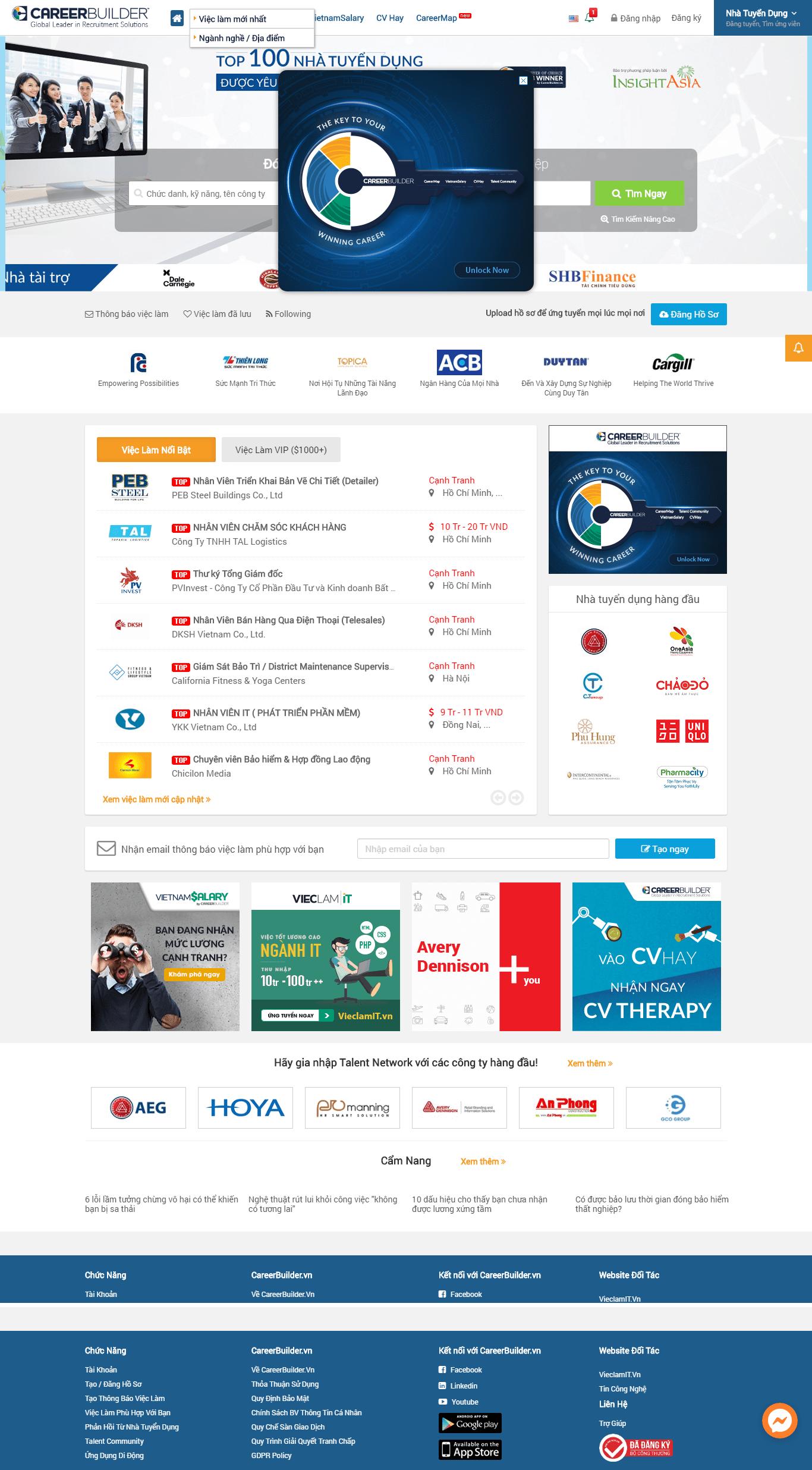 Thiết kế website tuyển dụng - careerbuilder.vn đẹp SEO nhanh hiệu quả