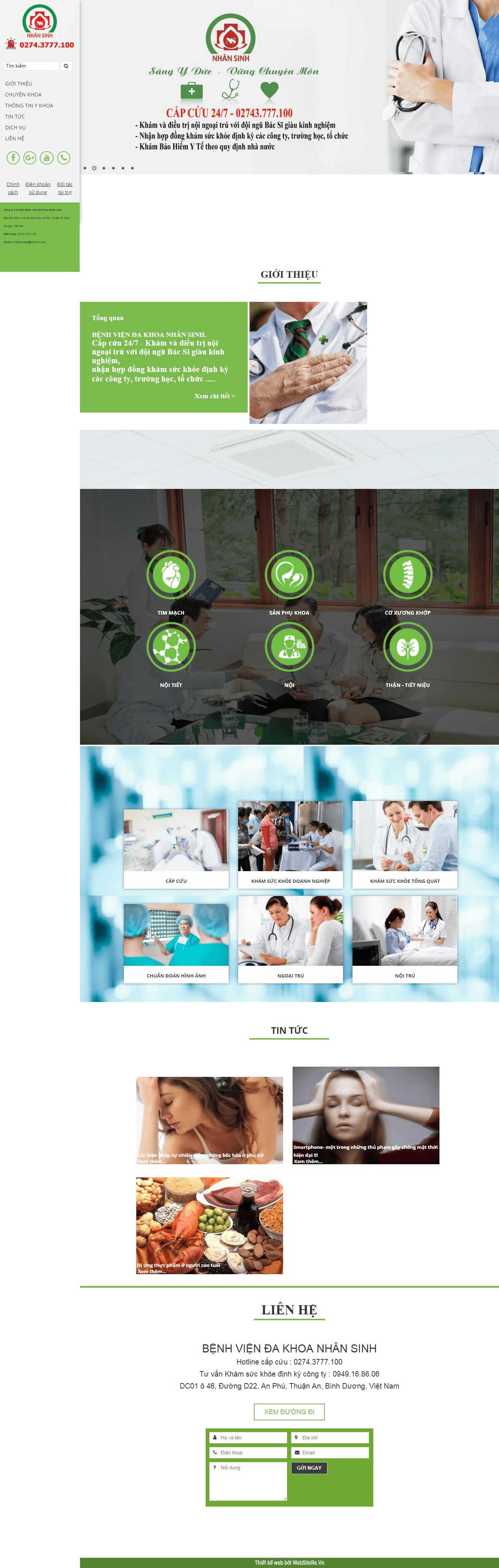 Thiết kế website y tế, uy tín chuyên nghiệp - dakhoanhansinh.com