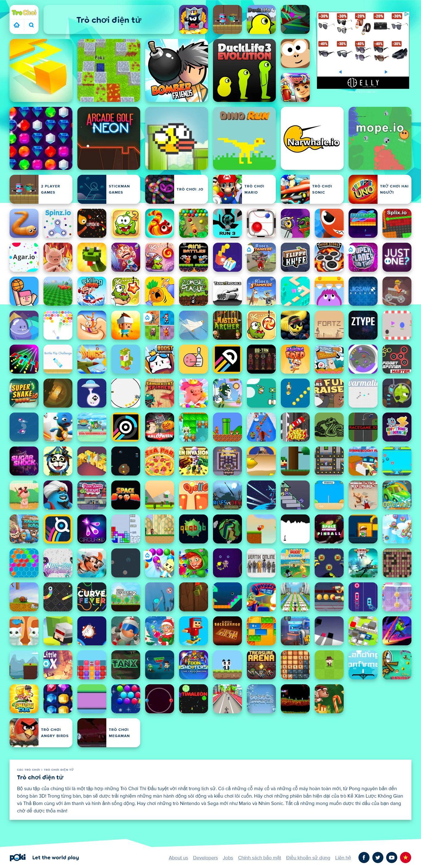 Thiết kế Web giới thiệu game, trò chơi điện tử - www.trochoi.net