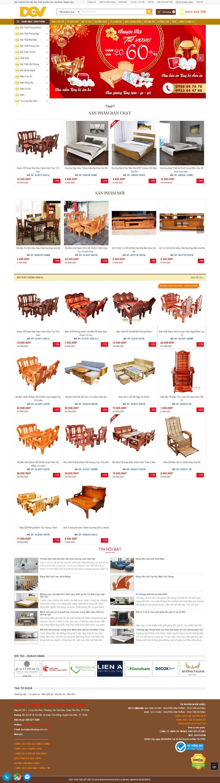 Thiết kế web đồ gỗ - noithatdogoviet.com