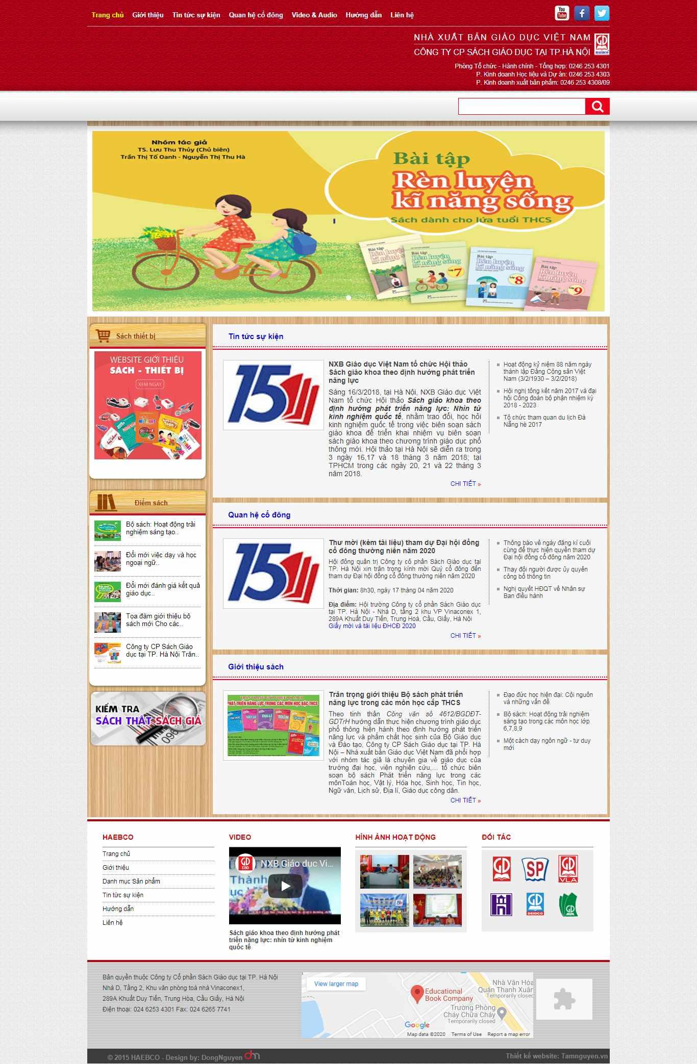 Thiết kế web sách giáo khoa - sachgiaoduchanoi.vn