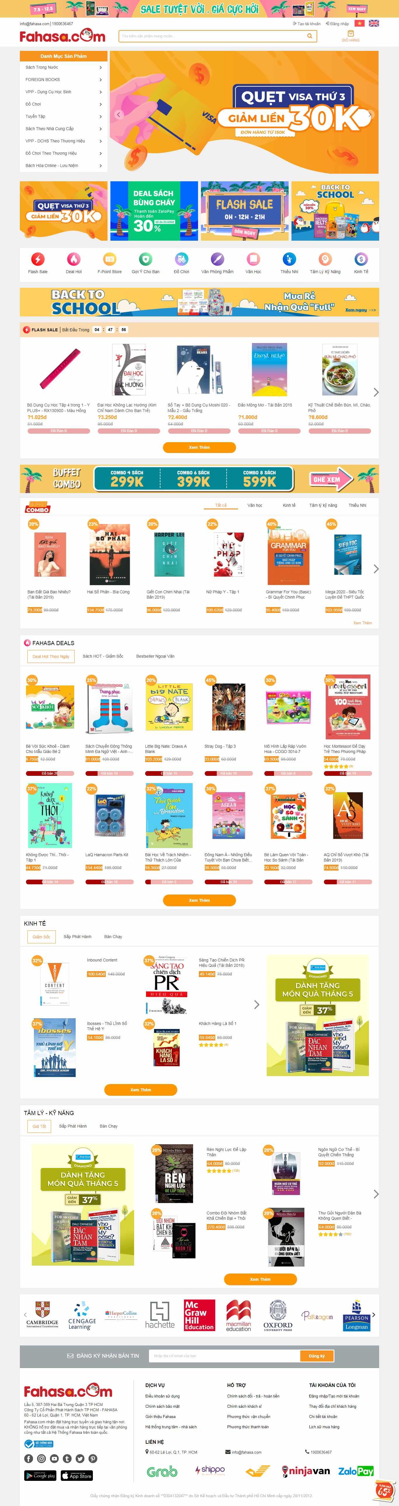 Thiết kế web sách giáo khoa - www.fahasa.com