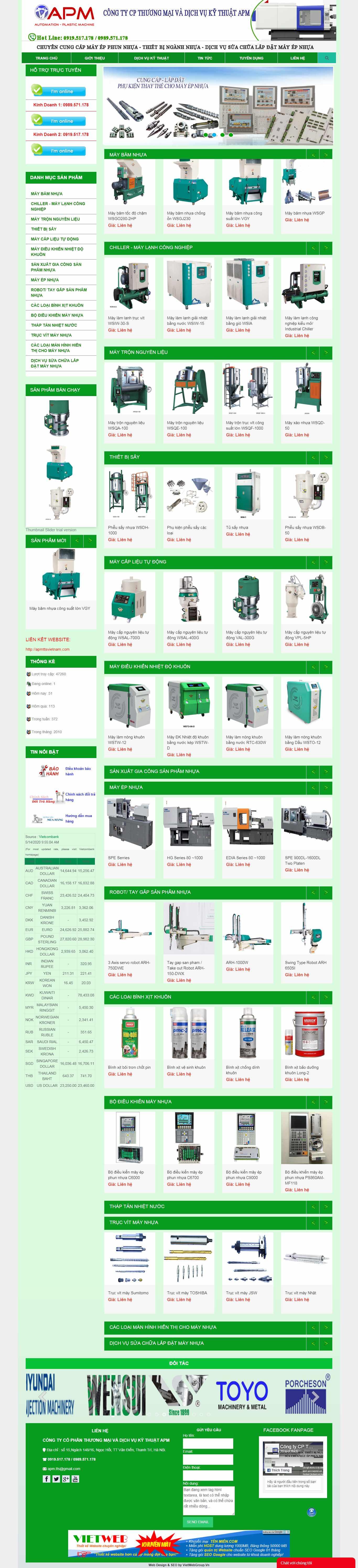 Thiết kế web 5 giây - maymocnganhnhua.com.vn