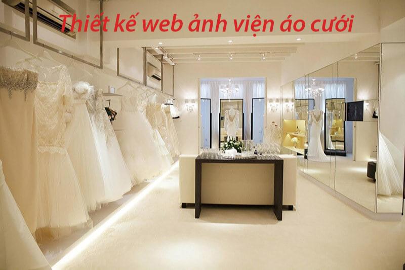 Thiết kế web ảnh viện áo cưới đẹp, chuẩn SEO